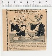 2 Scans Humour De 1913 Métier Avocat Divorce Salive Justice Tribunal Avoué / Sport Boxe Art Boxeur  51D1 - Non Classés