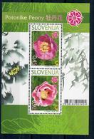 SLOVENIA 2010 - FLORA - FIORI - PEONIE - FOGLIETTO  - MNH** - Slovenia