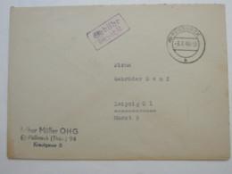 GEBÜHR BEZAHLT , Klarer Stempel Auf Brief Aus  PÖSSNECK  1948 - Sowjetische Zone (SBZ)