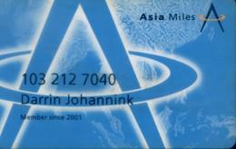 Hong Kong Airlines Cards, Asia Miles (1pcs) - Hong Kong