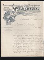 Asnieres (92) Maison Tricotel, Clotures Pour Chemins De Fer, Lettre Au President Des Courses De Loudéac 1903 - France