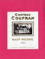 Etiquette Vin, Château Coufran, Haut-Médoc, 1952, Appellation Haut-Médoc Contrôlée - Collections, Lots & Séries