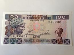 Billete Guinee. 100 Francos. 1998. Cacao. Sin Circular - Guinea