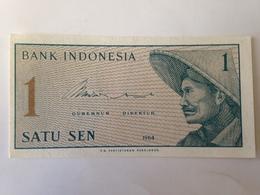 Billete Indonesia. 1 Sen. 1964. Sin Circular - Indonesia