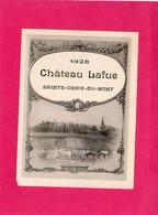 Etiquette Vin, Sainte-Croix-du-Mont, Château Lafue, 1928 - Collections, Lots & Séries