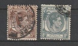 MiNr. 215, 217  Malaiische Staaten I Straits Settlement 1937/1941. Freimarken: König Georg VI. - Britisches Territorium Im Indischen Ozean