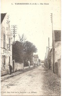 Dépt 77 - VARREDDES - Rue Neuve - Édit. Ory, Café De La Lorraine - Cl. Hébert N° 1 - (écrite Par Famille LEBOSSÉ) - Autres Communes