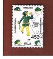 ITALIA REPUBBLICA  - SASS. 1768    1986  BERSAGLIERI   -      USATO - 6. 1946-.. República