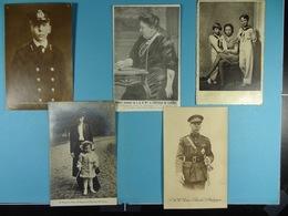 Lot De 5 Cartes De La Famille Royale Belge (Dynastie Belge) /15/ - Familles Royales