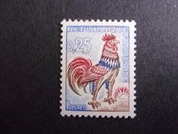 FRANCE YVERT No. 1331d COQ DE DECARIS FLUOR NEUF** SUPERBE - 1962-65 Cock Of Decaris