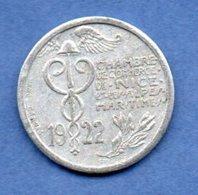 Nice  -  25 Centimes 1922  -  état  TTB - Monetary / Of Necessity