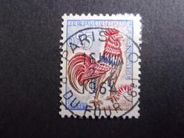 FRANCE YVERT No. 1331d COQ DE DECARIS FLUOR OBLITÉRÉ SUPERBE - 1962-65 Cock Of Decaris
