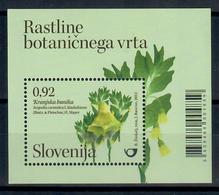 SLOVENIA 2013 - FLORA - PIANTE DEL GIARDINO BOTANICO DI LUBIANA  - FOGLIETTO - MNH ** - Slovenia