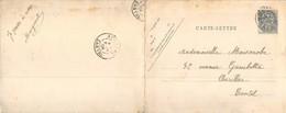 """Boulogne-sur-Mer: """"L'avant-Port"""" Carte-lettre Double Animée Qui A Voyagé En 1904 - Boulogne Sur Mer"""
