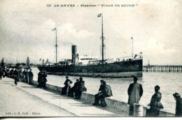 """N°68172 -cpa Le Havre -steamer """"ville De Rouen"""" - Commerce"""