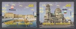 Macedonia 2018 In EU Europa European Ideas Vienna Austria Sofia Bulgaria Churches Set MNH - European Ideas