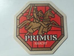 Posavasos Cerveza Primus Caballero Medieval. Haacht, Bélgica. Años '80 - Portavasos