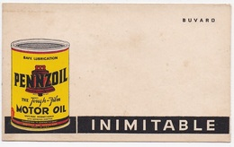 BUVARD PENNZOIL Motor Oil  Inimitable - Gas, Garage, Oil