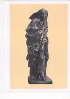 U4305 Cartolina Con Scultura Di FRANCESCO MESSINA: SANTA CATERINA DA SIENA (SAINT Catherine) MILANO, GALLERIA ARTE SACRA - Sculture
