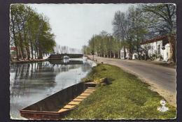 CPSM 34 - CAPESTANG - Le Canal Du Midi - TB PLAN Cours D'eau Avec Route Et Maisons Sur Le Bord 1966 - Capestang
