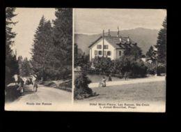 C25 SUISSE VAUD - LES RASSES SAINTE-CROIX - ROUTE DES RASSES ET HOTEL MONT-FELURY - VD Vaud