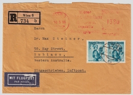 1955, Hohe Frankatur Nach Australien!   , #a1672 - 1945-60 Briefe U. Dokumente