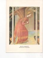 """U4310 Cartolina Serie """"angeli"""" 1978 BEATO ANGELICO: ANNUNCIAZIONE (part.) Annunciation, Angel - Angeli"""