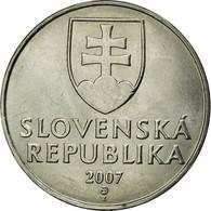 Monnaie, Slovaquie, 2 Koruna, 2007, SUP+, Nickel Plated Steel, KM:13 - Slovakia