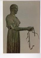 U4313 Postcard With Sculture Sculptur Skultur Scultura Bronze Bronzo - DELPHI MUSEUM, THE COACHMAN (INIOCHOS) _ - Sculpturen