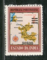 Portuguese India 1959 Rs.$30.00 O/p 5 Map Sc 590 1v MNH # 3491a Back Paper Stuck - Geography
