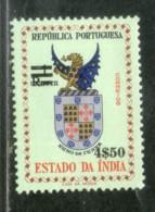 Portuguese India 1959 Rs.$4.50 O/p 1 Coat Of Arms Vasco De Gama Sc 587 1v MNH # 3760a - Stamps