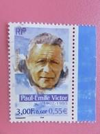 Timbre France YT 3345 - Personnages Célèbres - Les Grands Aventuriers Français -  Paul-Emile Victor - 2000 - Usados
