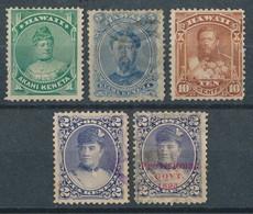 Hawaii - 5 Alte Marken (Michel 22,- €) - Hawaii