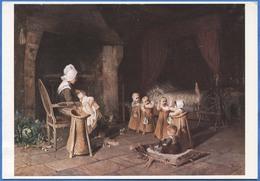Jean-Pierre HAAG (1854-1906) - La Gardeuse D'enfants En Normandie - Peintures & Tableaux