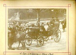 Lot 2 Photos Originales En 1896 Tsar Russie Nicolas II Tsarine Feodorovna Et Felix Faure à Saint Cloud -- Russia  KX - Famous People