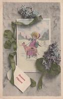Très Belle Carte Postale Ancienne De Chien Lévrier  WHIPPETS Ou GREYHOUND  Ou BARZOI - Honden