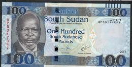 SOUTH SUDAN P15c 100 POUNDS 2017     UNC. - South Sudan