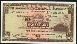 HONG-KONG P181f    5 DOLLARS 1973  #FJ      XF - Hong Kong