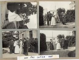 4 Photos  - TRELAZE -   BAPTEME -  Famille Gérant Les Ardoisières De Trélazé (49) - Orte