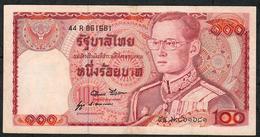 THAILAND P89c 100 BAHT 1978  #44R Signature 52    XF   NO P.h. - Thaïlande