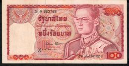 THAILAND P89c 100 BAHT 1978  #51R Signature 52    XF   NO P.h. - Thaïlande