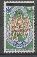 Bénin Dahomey 426 Michel N°552 Jeux Olympiques (olympic Games) Munich 1972 Oblitéré Surchargé (overprinted) - Benin – Dahomey (1960-...)