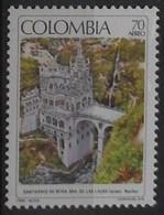 Colombia 1990 Aereo Santuario De Ntra. Sra. De Las Lajas ** MNH - Colombie