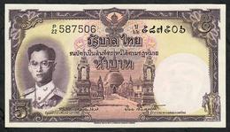 THAILAND P75d 5 BAHT 1955  #P/22  Signature 40  UNC. - Thaïlande