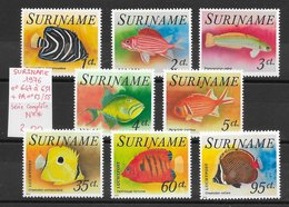 Poisson Aquariophilie - Surinam N°647 à 651 & PA N°53 à 55 1976 ** - Pesci