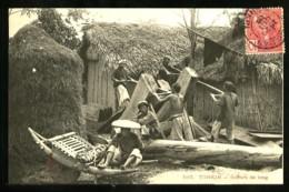 TONKIN - 592 : Scieurs De Long   (Gros Plan Animé) - Vietnam