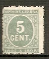GUE   Yv. N°  19 (*)  5c  1897-1898   Cote   3,75   Euro BE   2 Scans - Impuestos De Guerra