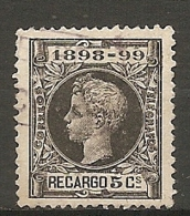 GUE   Yv. N°  27 (o)  5c  Alphonse XIII   Cote   0,75   Euro BE   2 Scans - Impuestos De Guerra