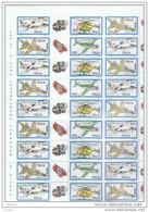 REPUBBLICA:  1982  AEREI  ITALIANI  -  S. CPL. 4  VAL. FGL. 10  N. -  SASS. 1588/91 - 6. 1946-.. Republic