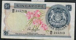 SINGAPORE P1c   1 DOLLAR  1971 W/o Seal   #B/61    VF   NO P.h. - Singapour